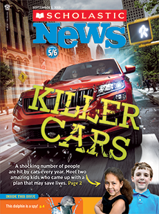 Killer Cars Scholastic News 5-6 magazine.